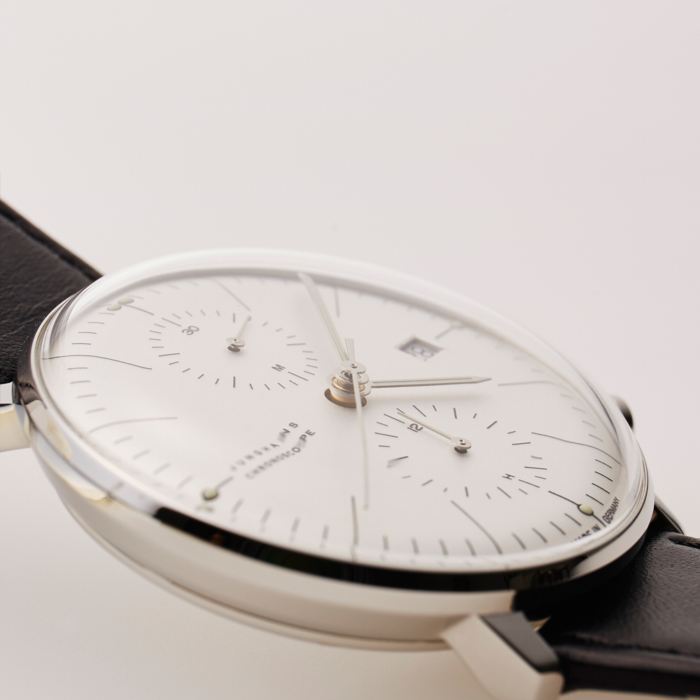 max bill Chronoscope - White|JUNGHANS