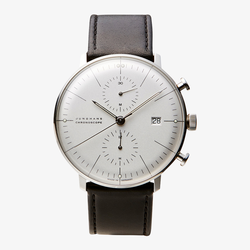 max bill Chronoscope – White|JUNGHANS