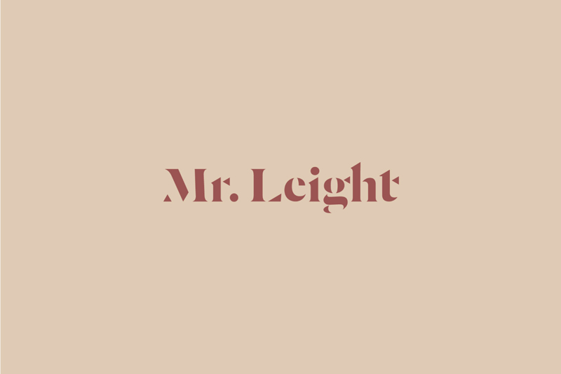 Mr. Leight|New Brand Debut.