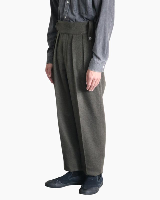Wool Super Beaver|BELTLESS – KHAKI|NEAT