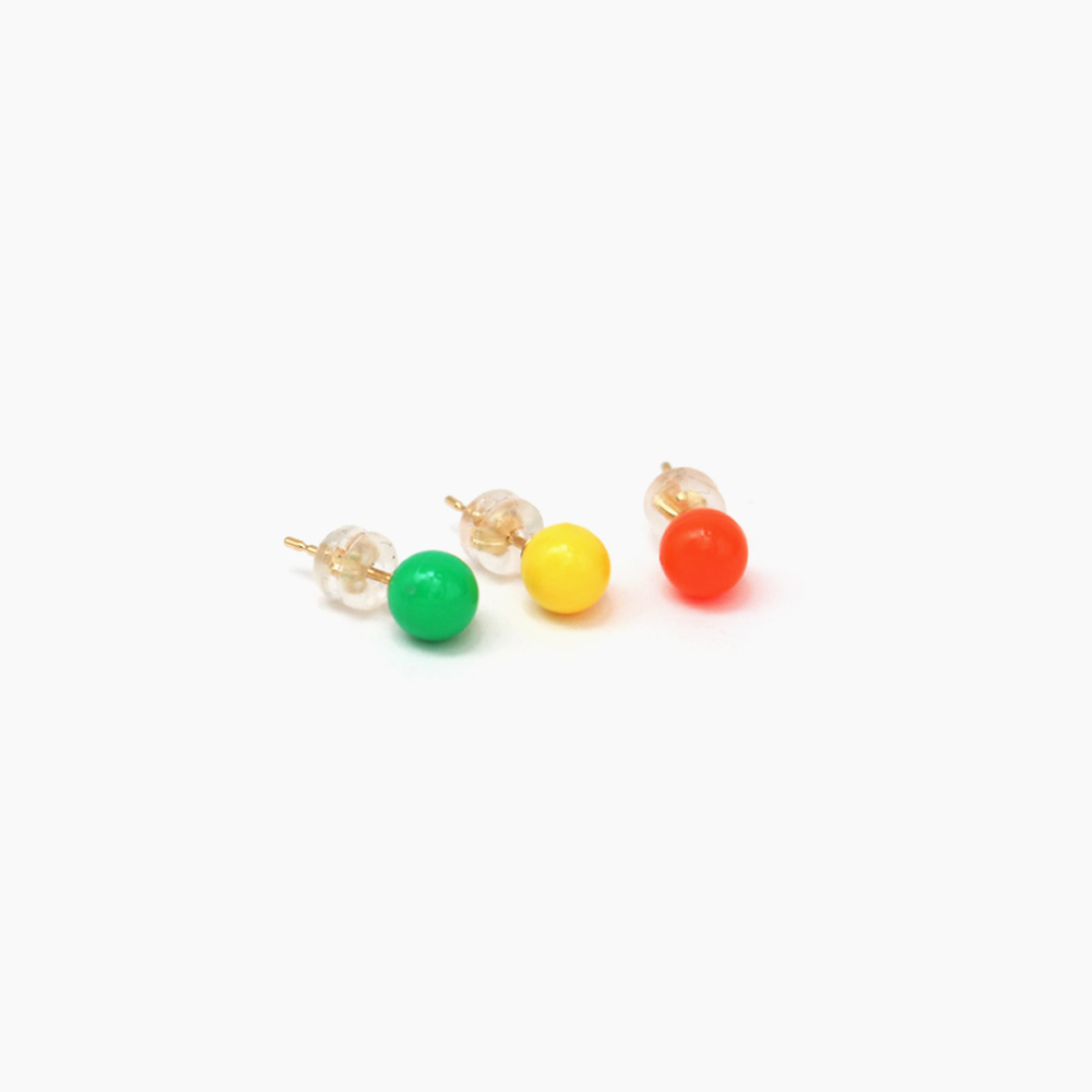 deneb-Ball Bullet pierced earring - Orange|tmh.