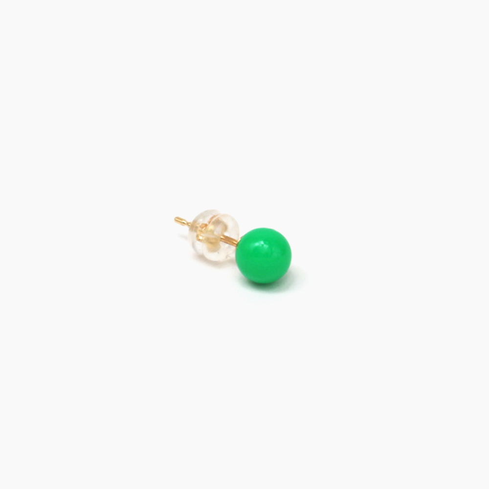 deneb-Ball Bullet pierced earring – Green|tmh.