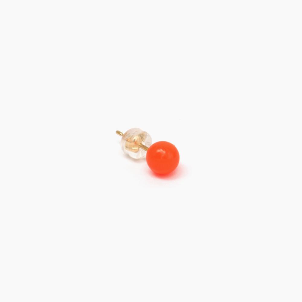 deneb-Ball Bullet pierced earring – Orange|tmh.