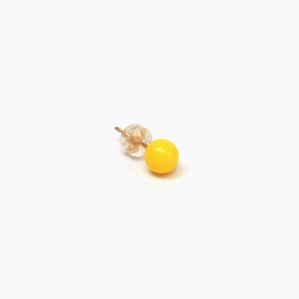 deneb-Ball Bullet pierced earring – Yellow|tmh.