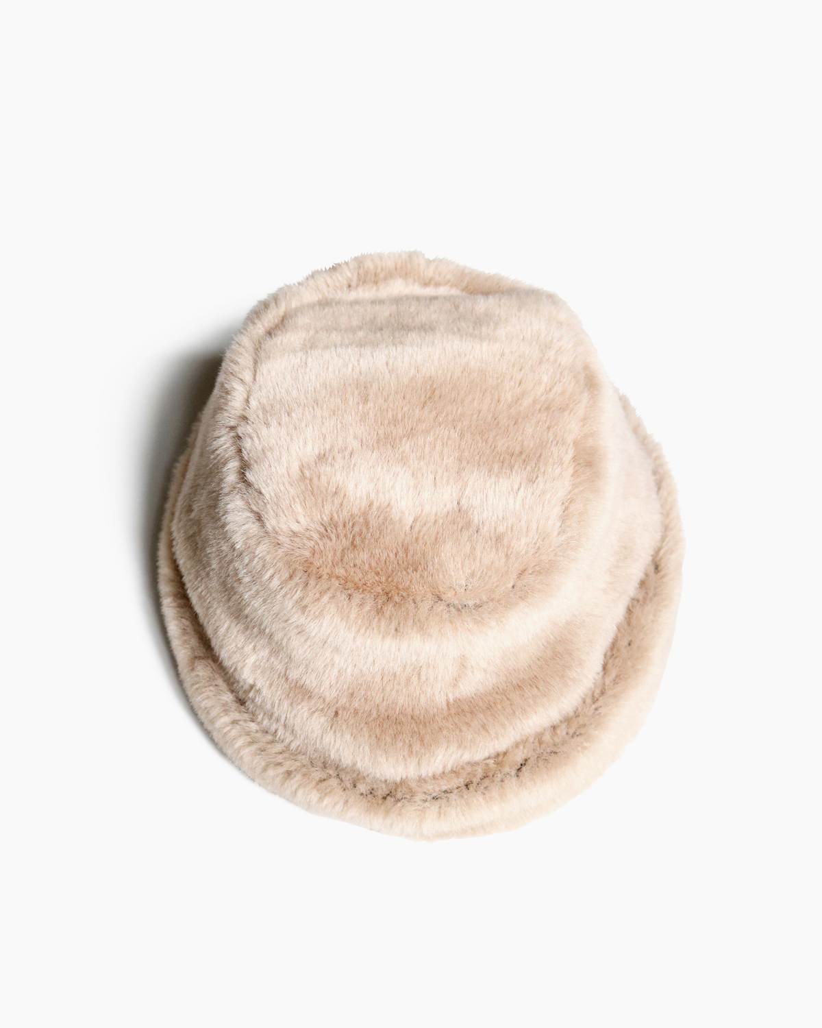 FUR CAP / LIGHT BEIGE|COMESANDGOES