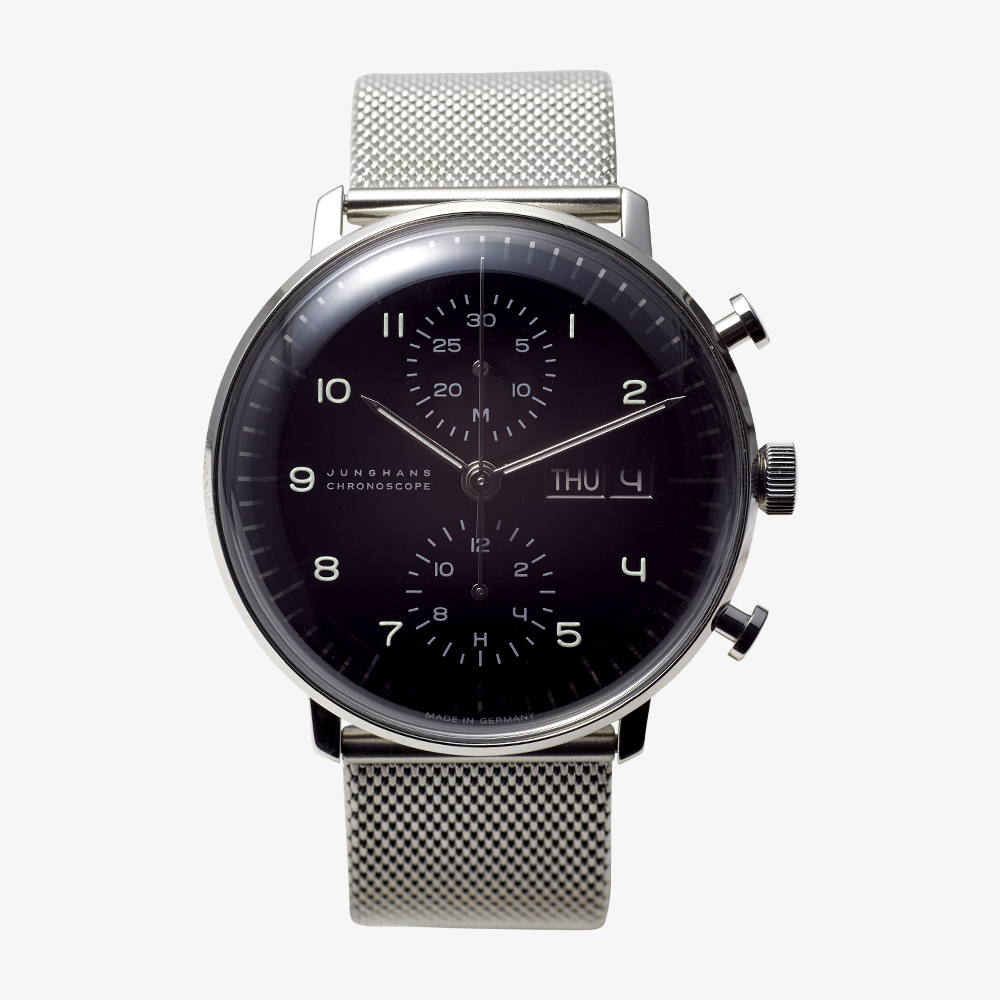 max bill Chronoscope – Black|JUNGHANS