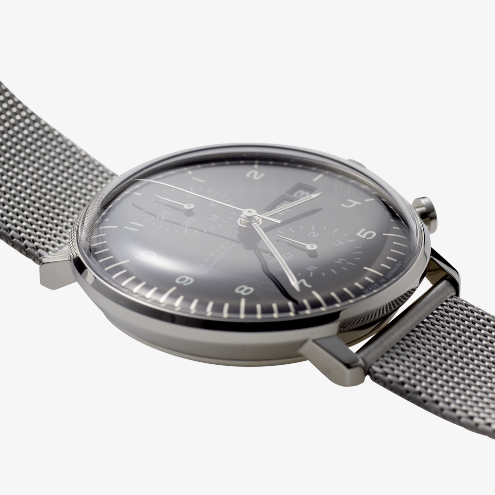 max bill Chronoscope - Black|JUNGHANS