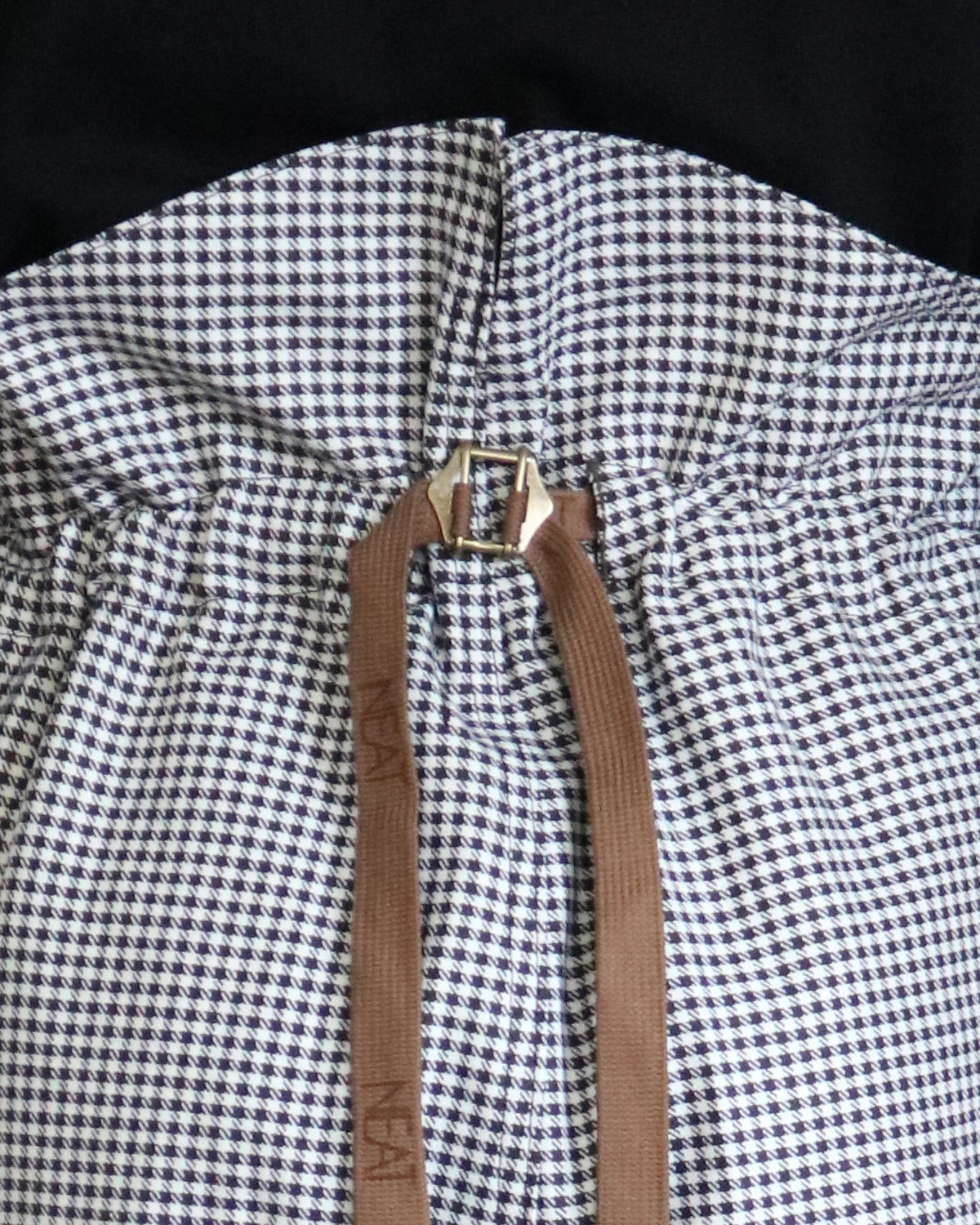 80's VINTAGE GINGHAM|FLIGHT - BROWN×WHITE|NEAT