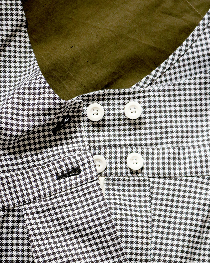 80's VINTAGE GINGHAM|OVERALLL - BROWN×WHITE|NEAT