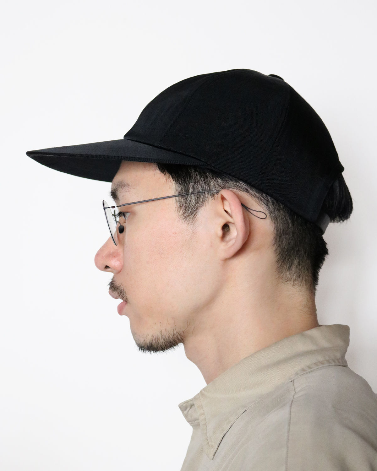 LONG BRIM CAP - BLACK|COMESANDGOES