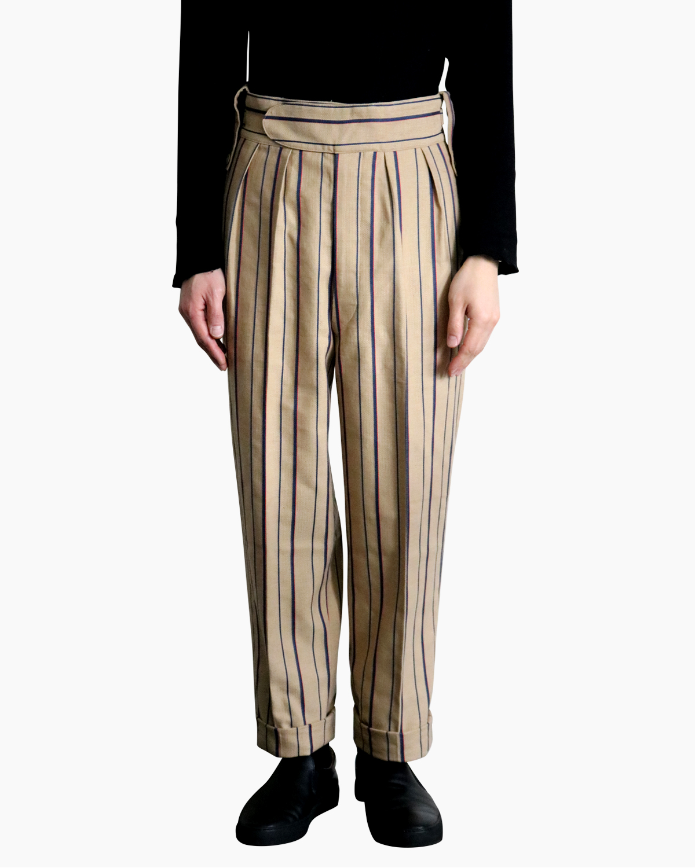Cotton Linen Alternate Stripe|BELTLESS - Beige|NEAT