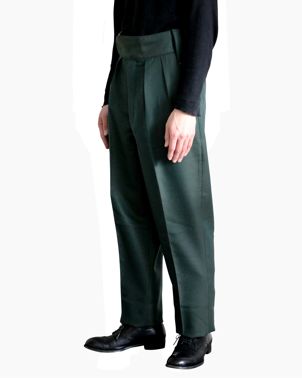 FOX BROTHERS Plain|BELTLESS - Green|NEAT