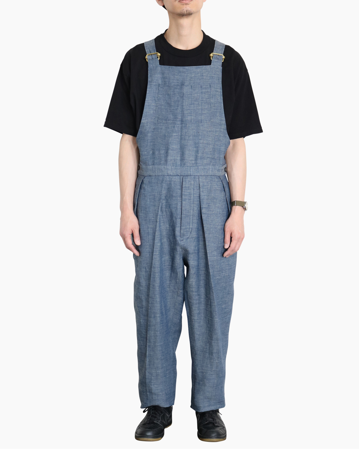 LINEN CHAMBRAY|OVERALL - BLUE|NEAT