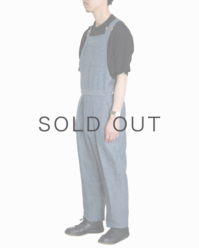 LINEN CHAMBRAY|OVERALL – BLUE|NEAT