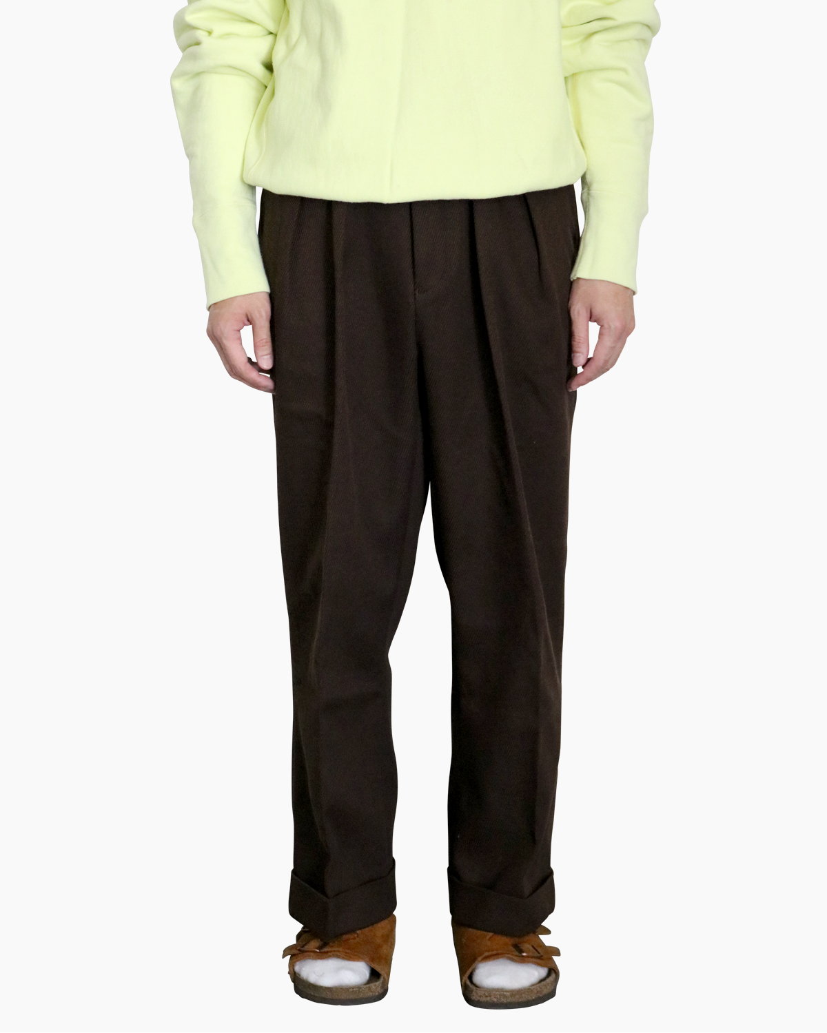 Cotton Kersey Brown - WIDE NEAT