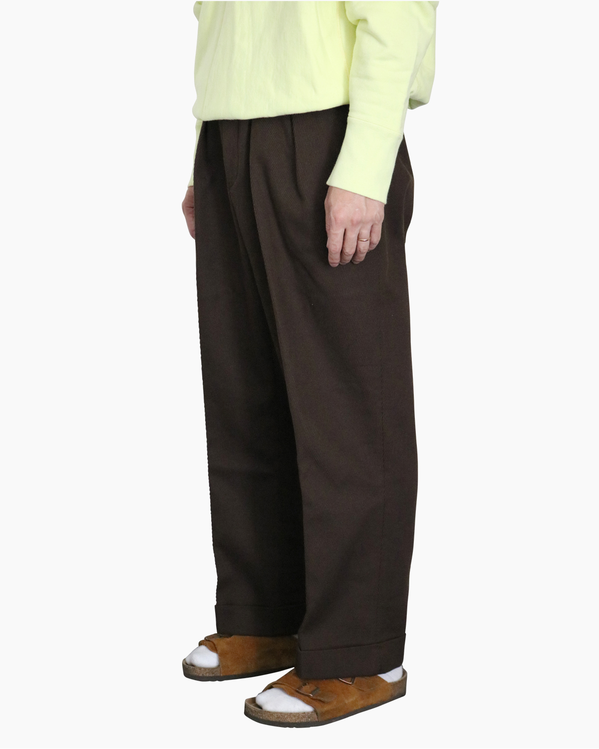 Cotton Kersey|Brown – WIDE|NEAT