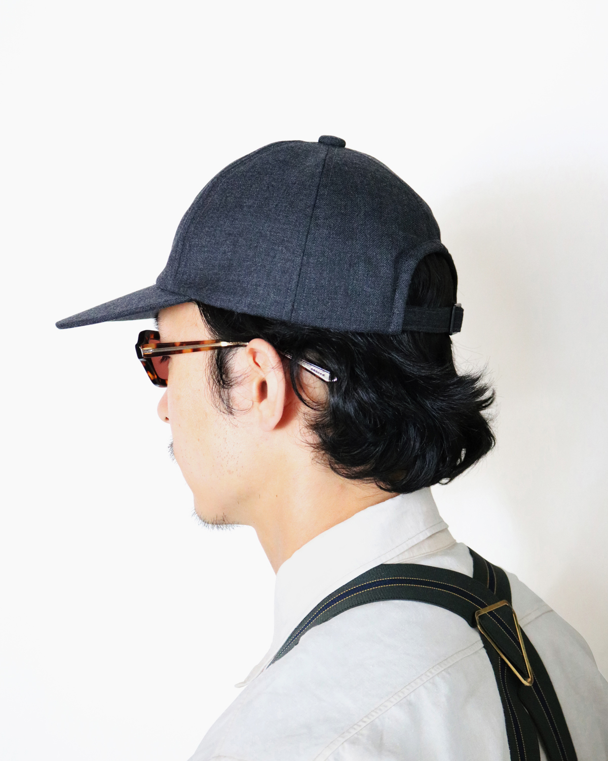 Suit Fabric Cap - Grey|COMESANDGOES