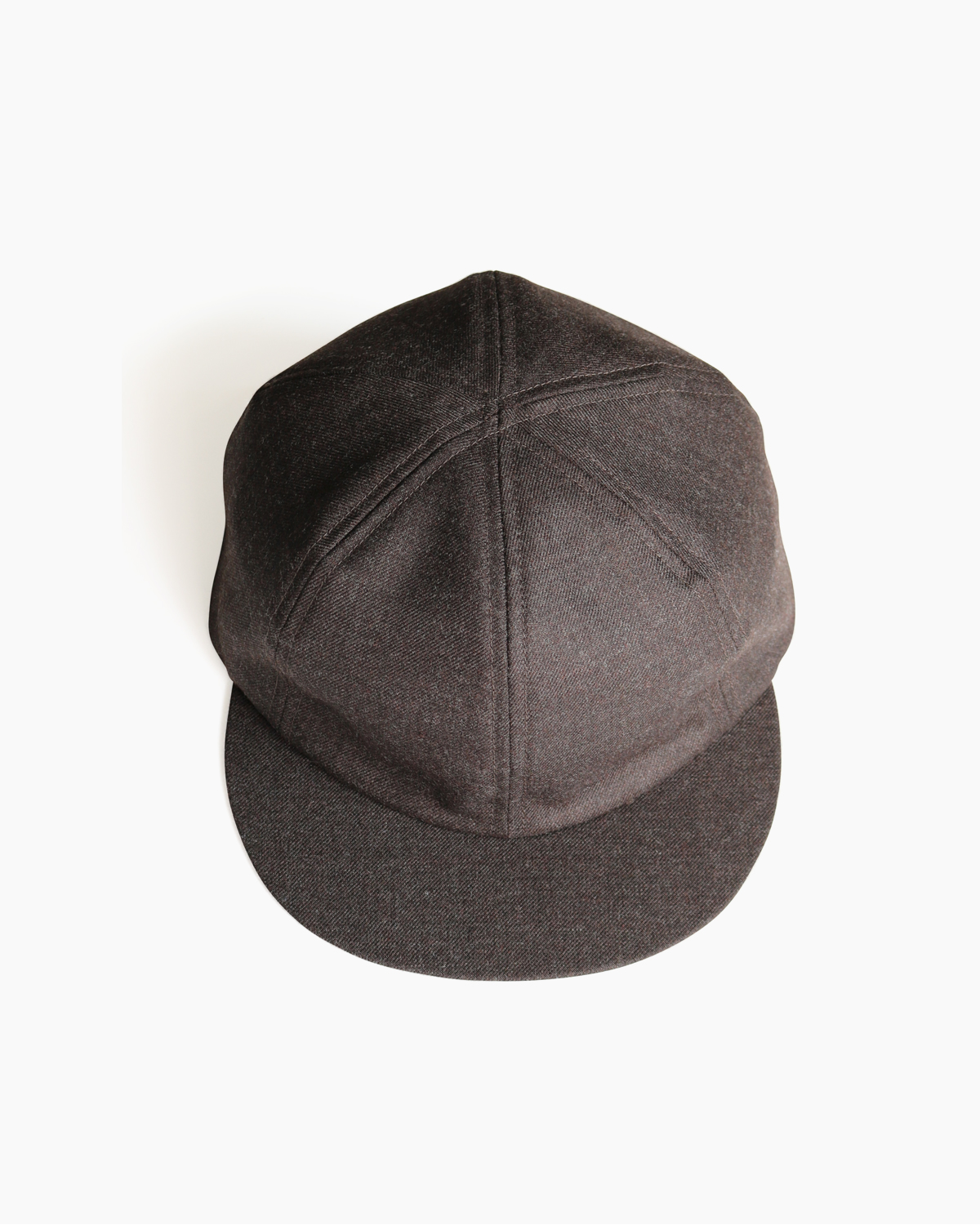 Suit Fabric Little Brim Cap - Khaki Brown|COMESANDGOES