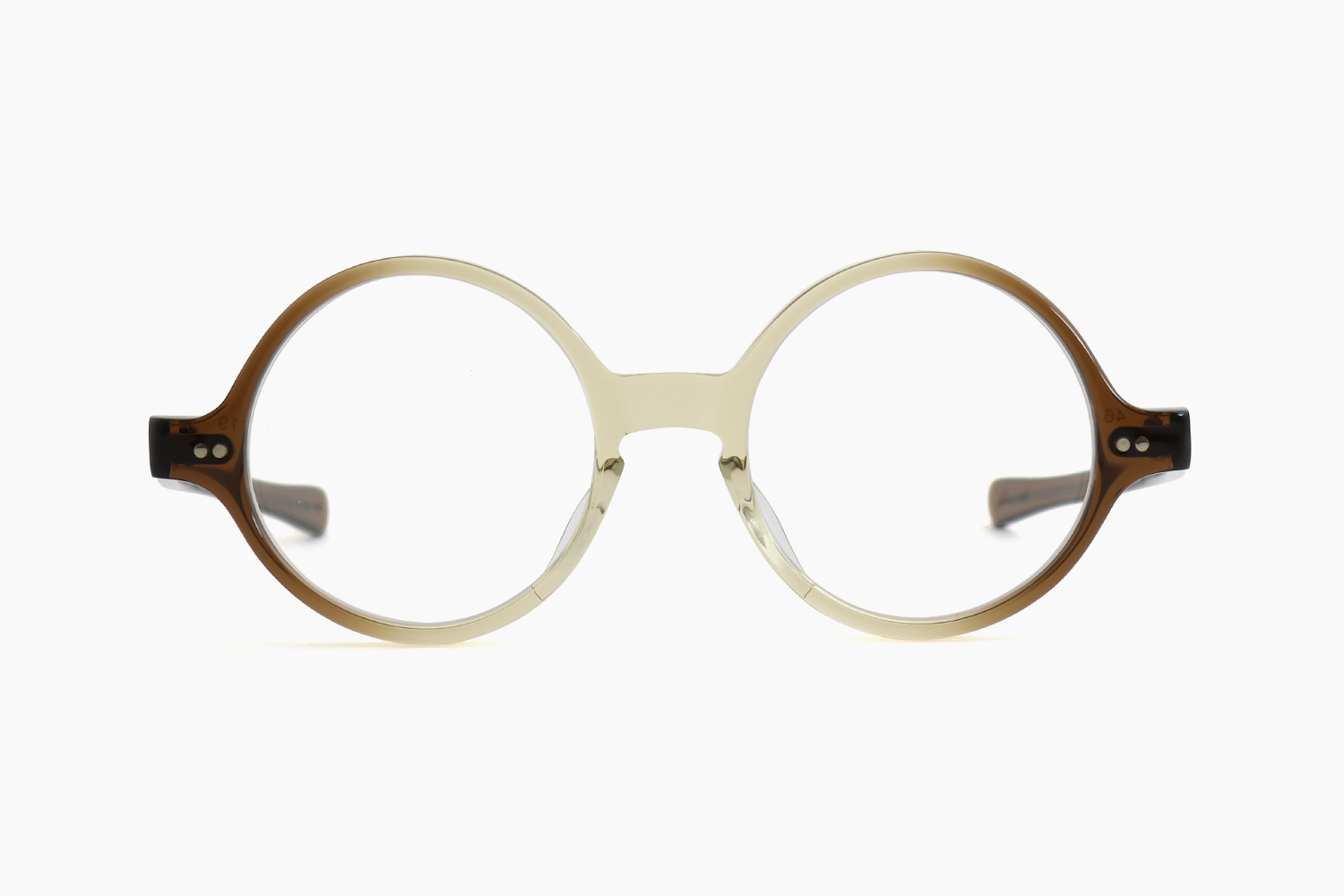 T-ROUND – Brown Gradient|JULIUS TART OPTICAL