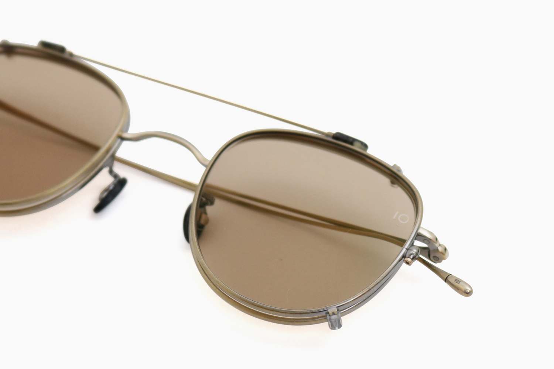 10 eyevan for Continuer no.4 SLIDE CLIP - Antique Gold / BR 10 eyevan