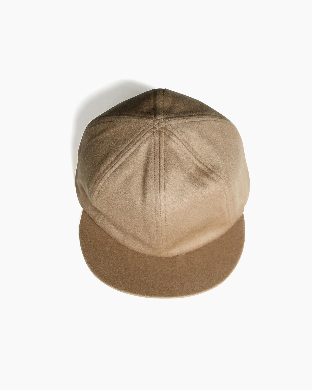 CASHMERE 100 LITTLE BRIM CAP - Camel|COMESANDGOES