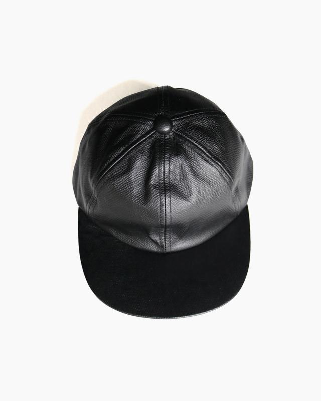COW LEATHER CAP – Black|COMESANDGOES