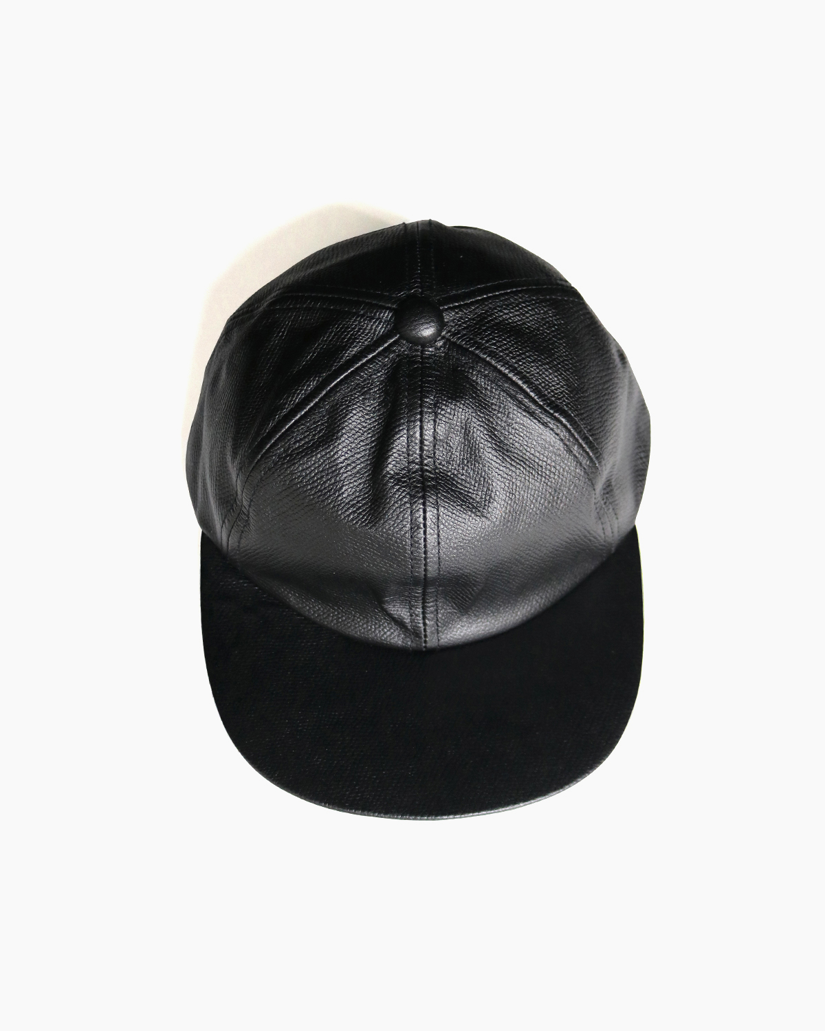 COW LEATHER CAP – Black|COMESANDGOES