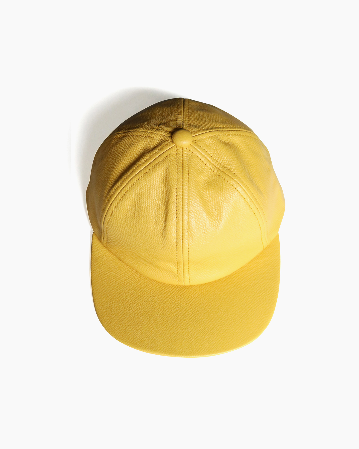 COW LEATHER CAP – Yellow|COMESANDGOES