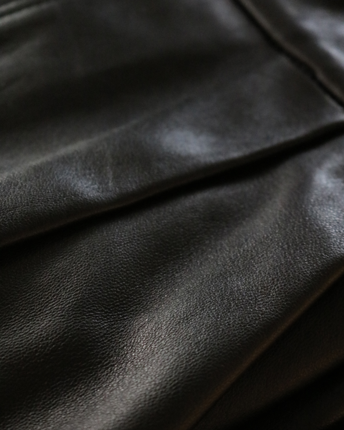 LAMB LEATHER|WIDE - Black|NEAT