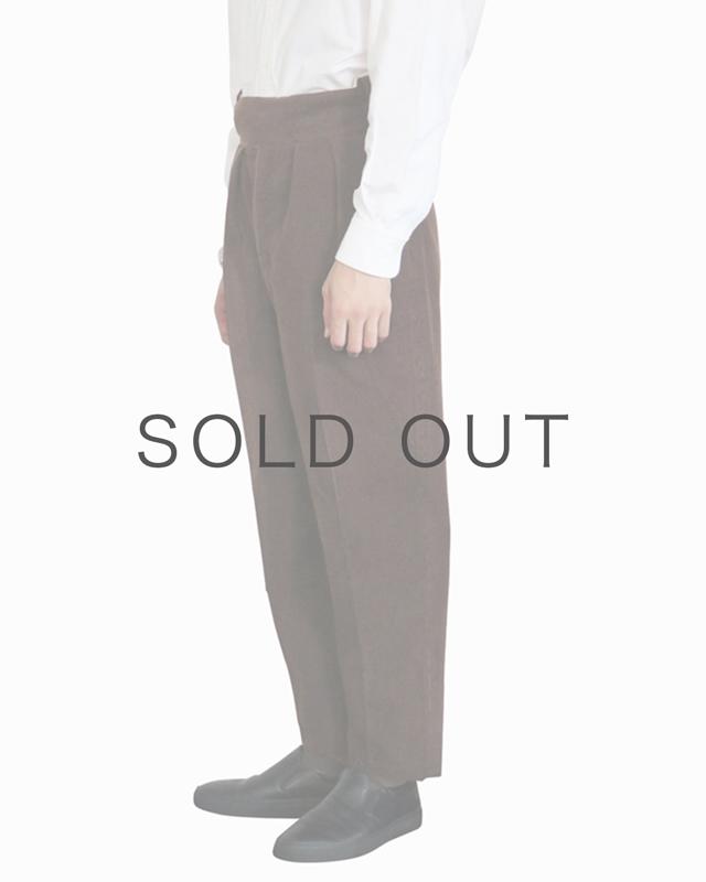 Wool Cotton Corduroy|BELTLESS – Brown|NEAT