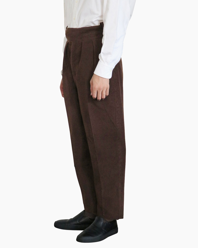 Wool Cotton Corduroy|BELTLESS – Brown|NEAT