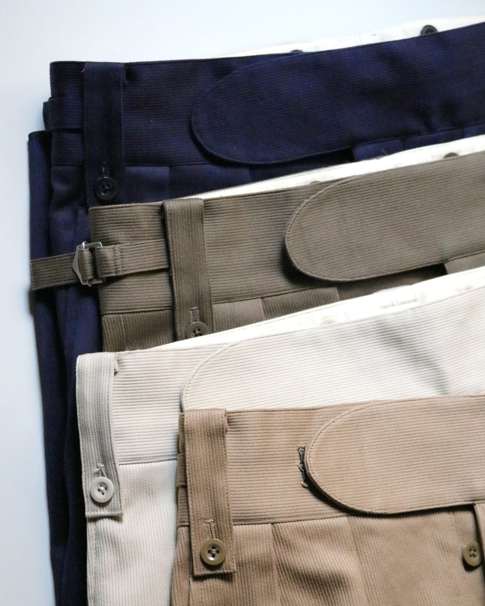 COTTON PIQUE|BELTLESS - Khaki|NEAT