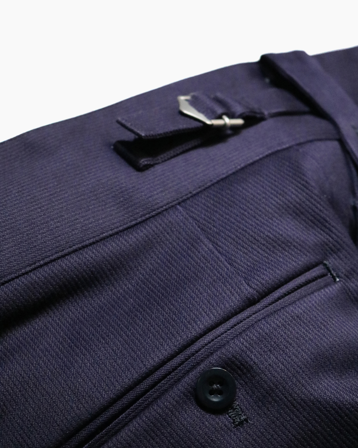 COTTON PIQUE|BELTLESS - Navy|NEAT