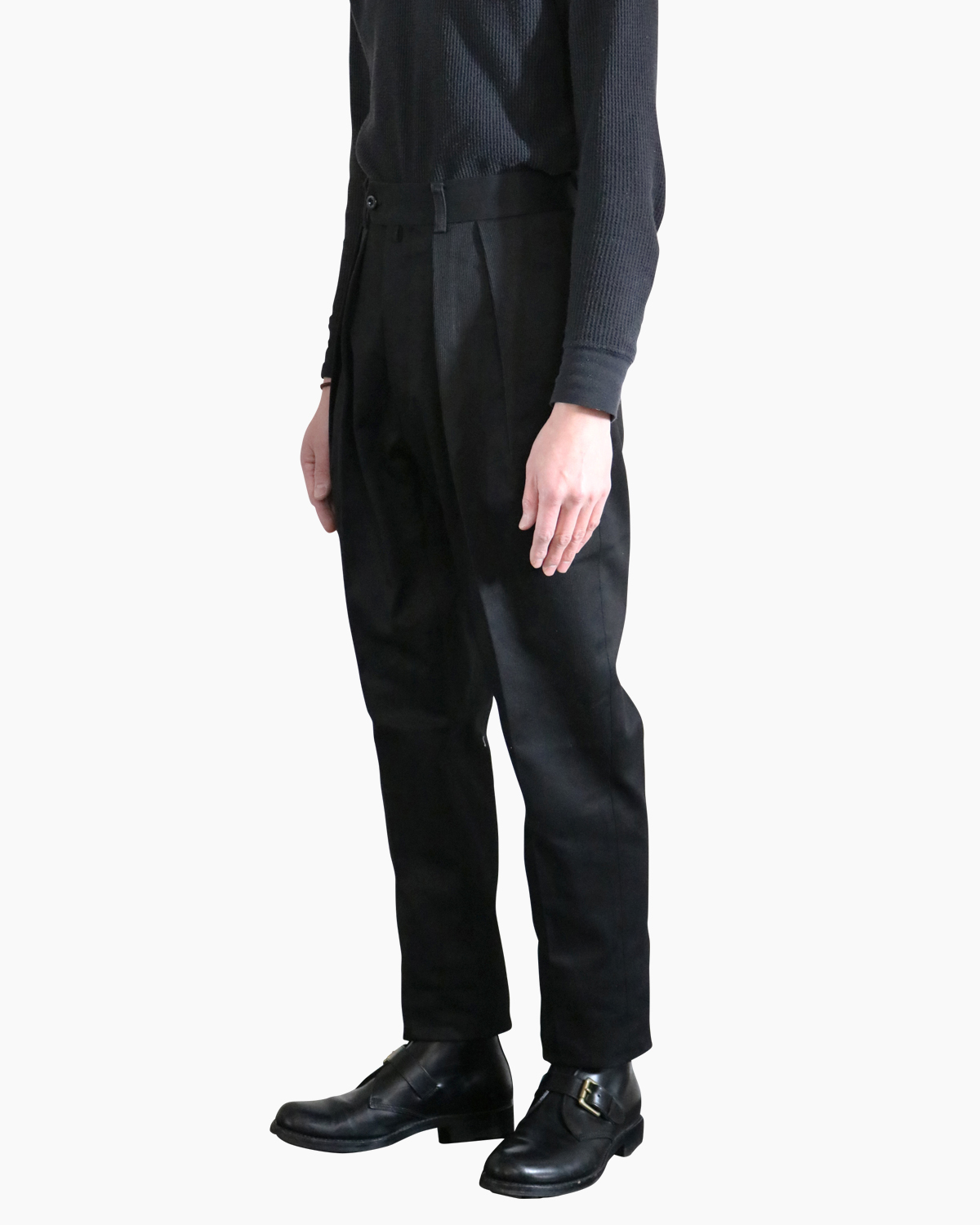 COTTON PIQUE|TAPERED - Black|NEAT