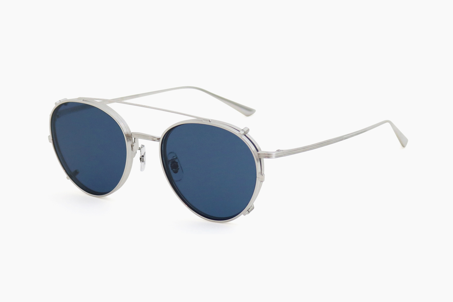 BROWNSTONE CLIP - 503680 Silver|OLIVER PEOPLES