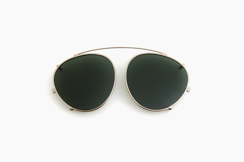 OLIVER PEOPLES THE ROW|BROWNSTONE CLIP – 52929A White Gold|OLIVER PEOPLES
