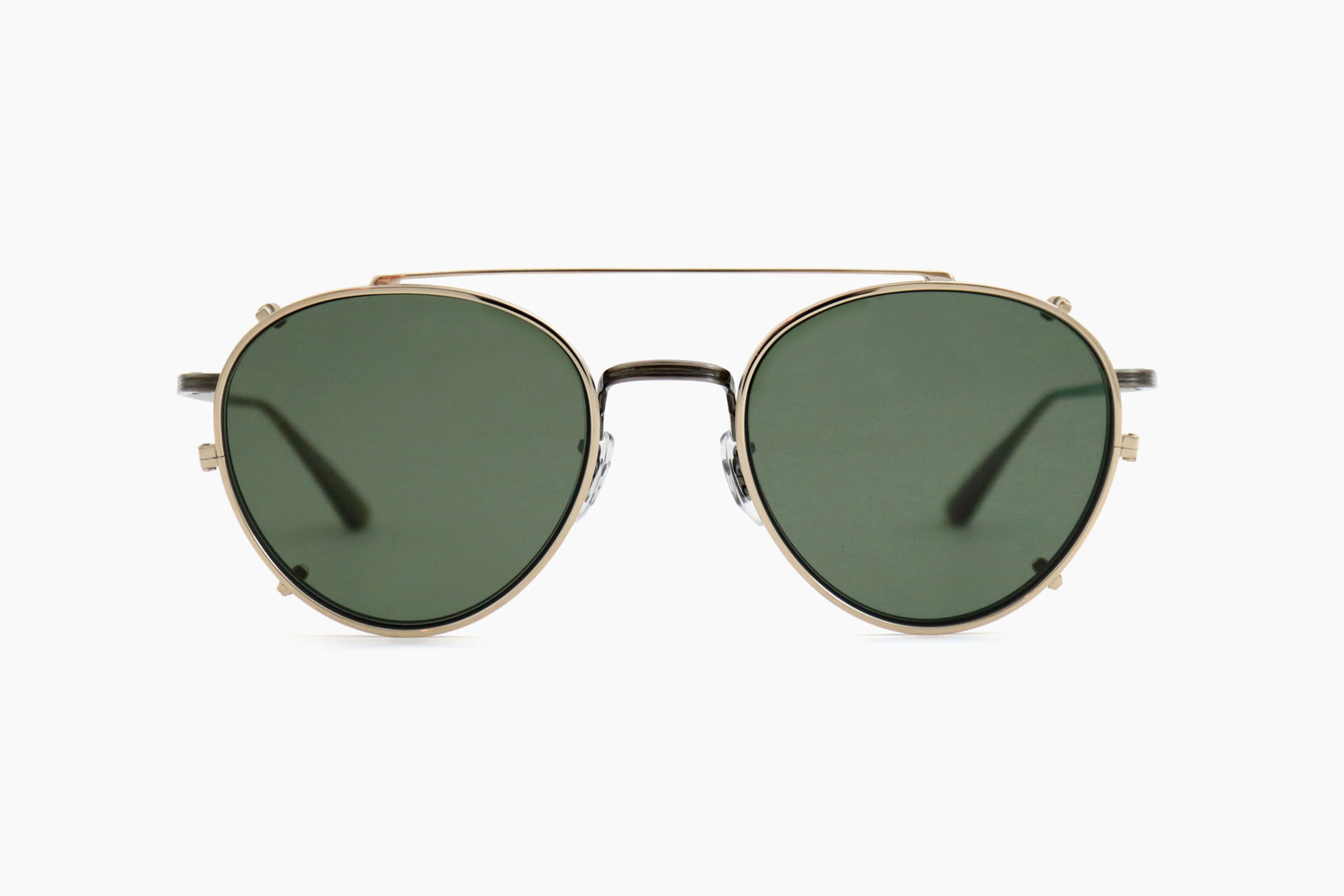 BROWNSTONE CLIP - 52929A White Gold|OLIVER PEOPLES