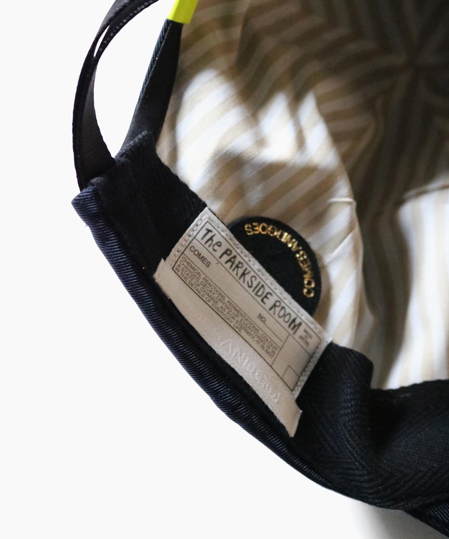 LONG BRIM CAP - Navy|for The PARKSIDE ROOM|COMESANDGOES