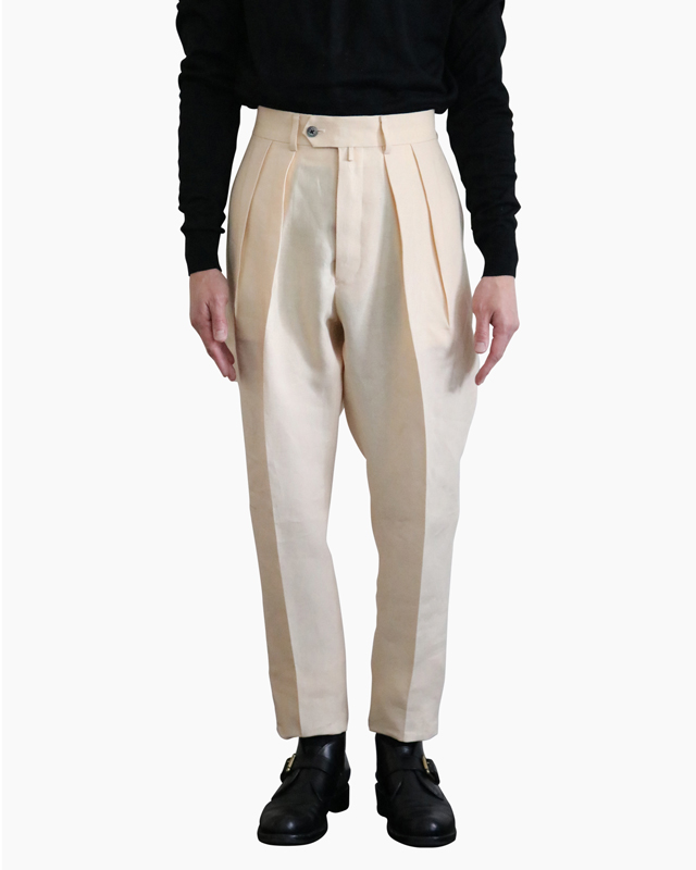SPENCE BRYSON LINEN|TAPERED – Ivory|NEAT