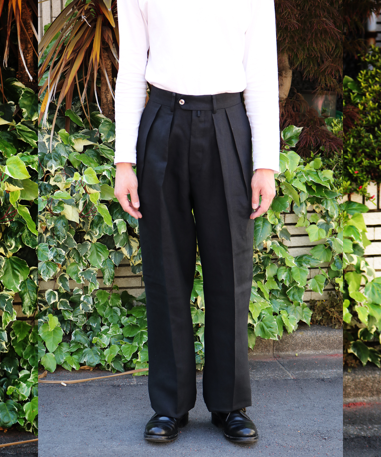 SPENCE BRYSON LINEN|WIDE – Black|NEAT