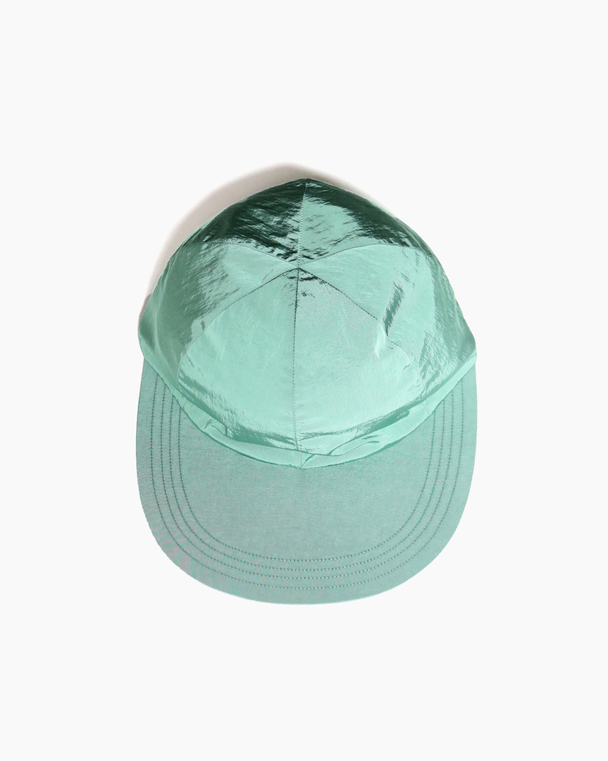 LIGHT NYLON BIG BRIM CAP – Green|COMESANDGOES