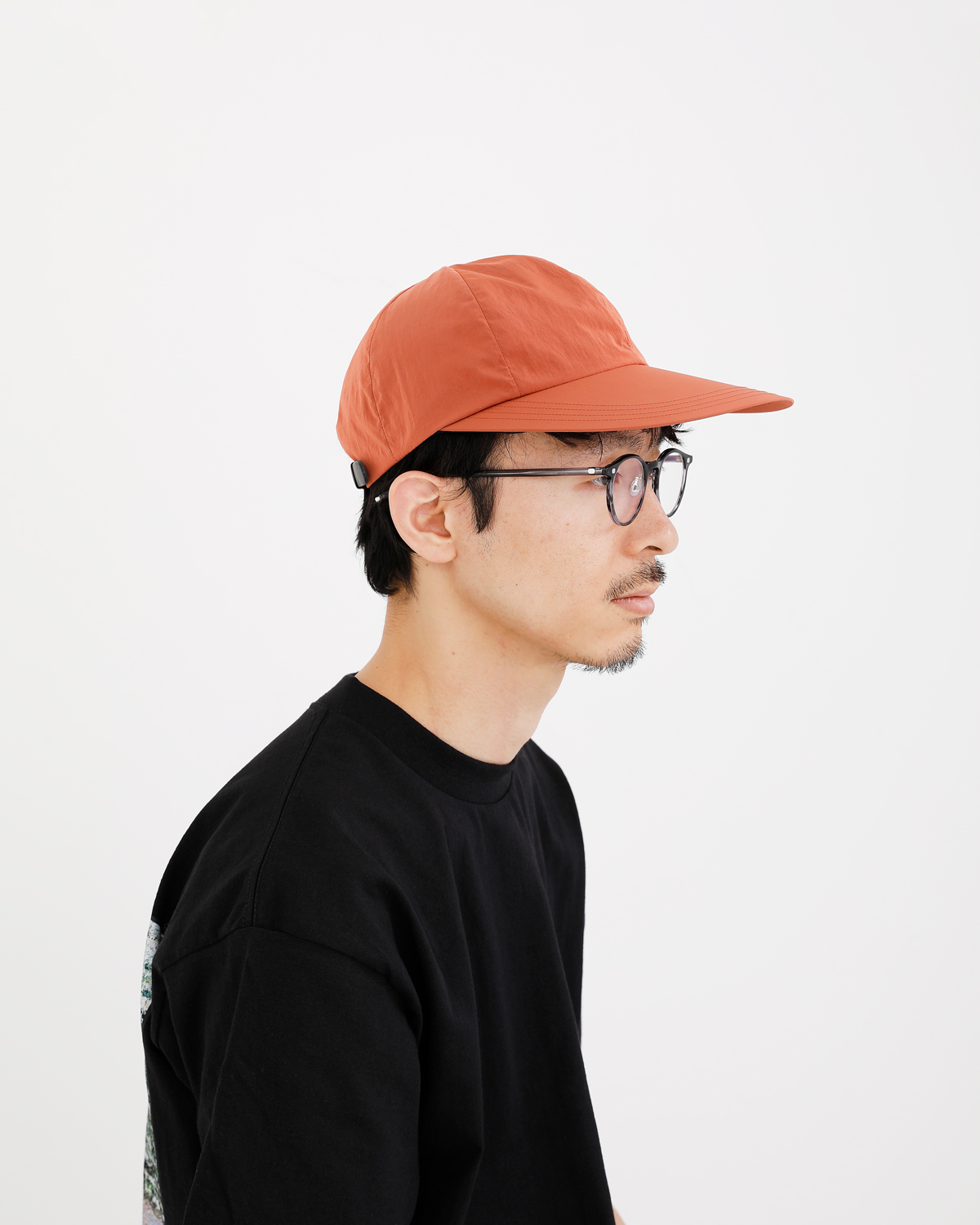 LIGHT NYLON BIG BRIM CAP - Pink|COMESANDGOES