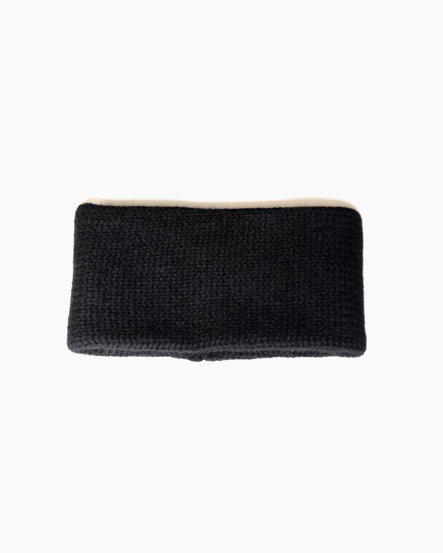 CASHMERE 100 NECK WARMER - Black COMESANDGOES