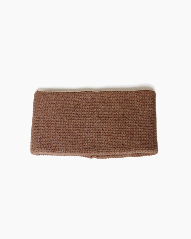 CASHMERE 100 NECK WARMER – Brown|COMESANDGOES