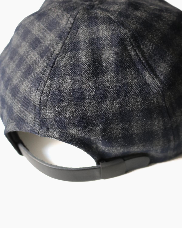 CHECK CAP - Gray×Navy|COMESANDGOES