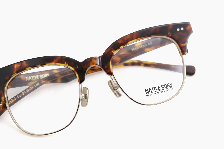 NEWMAN - Brown Tort / SUN-Gold|NATIVE SONS