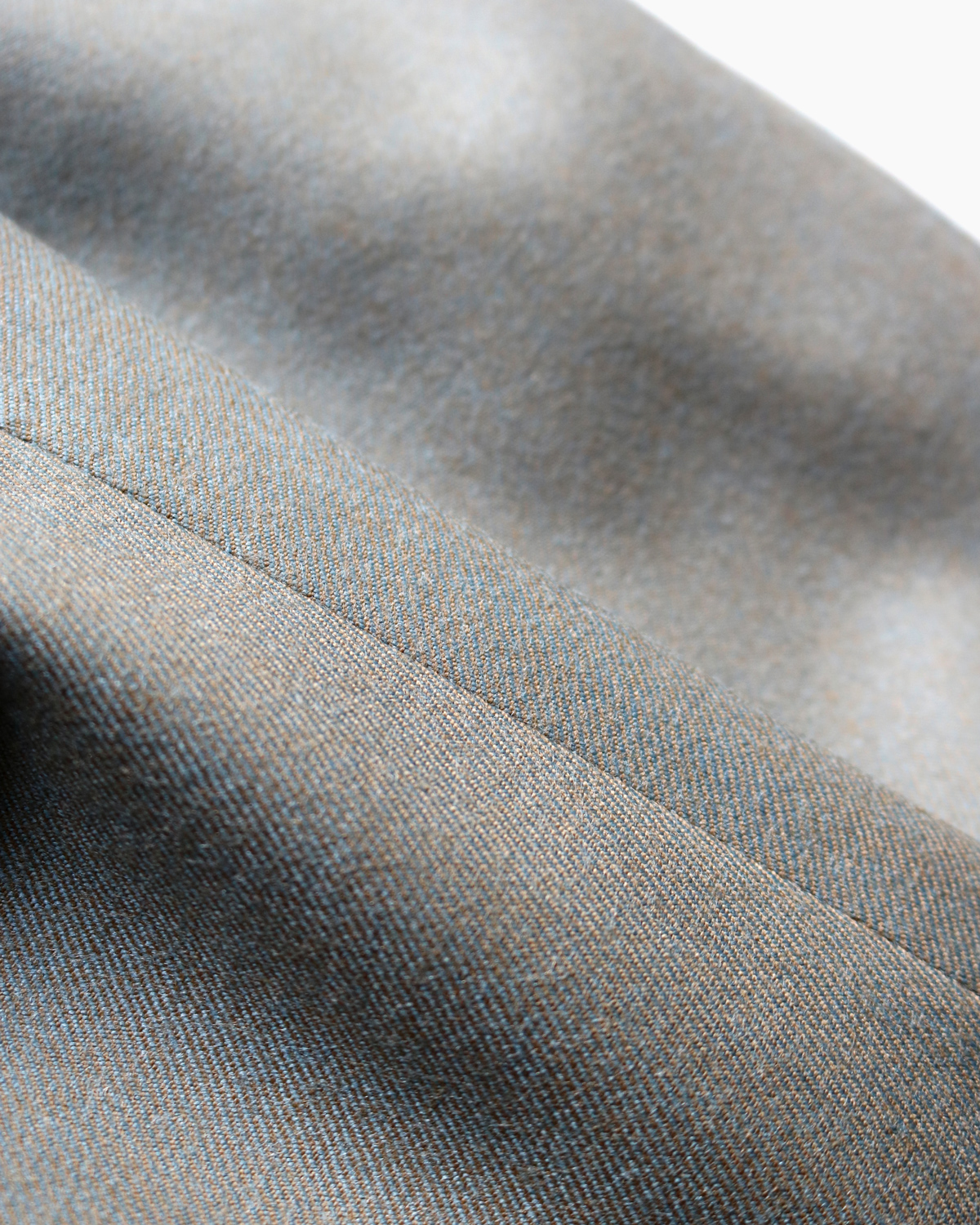 BOWER ROEBUCK FLANNEL|WIDE - Khaki Gray|NEAT