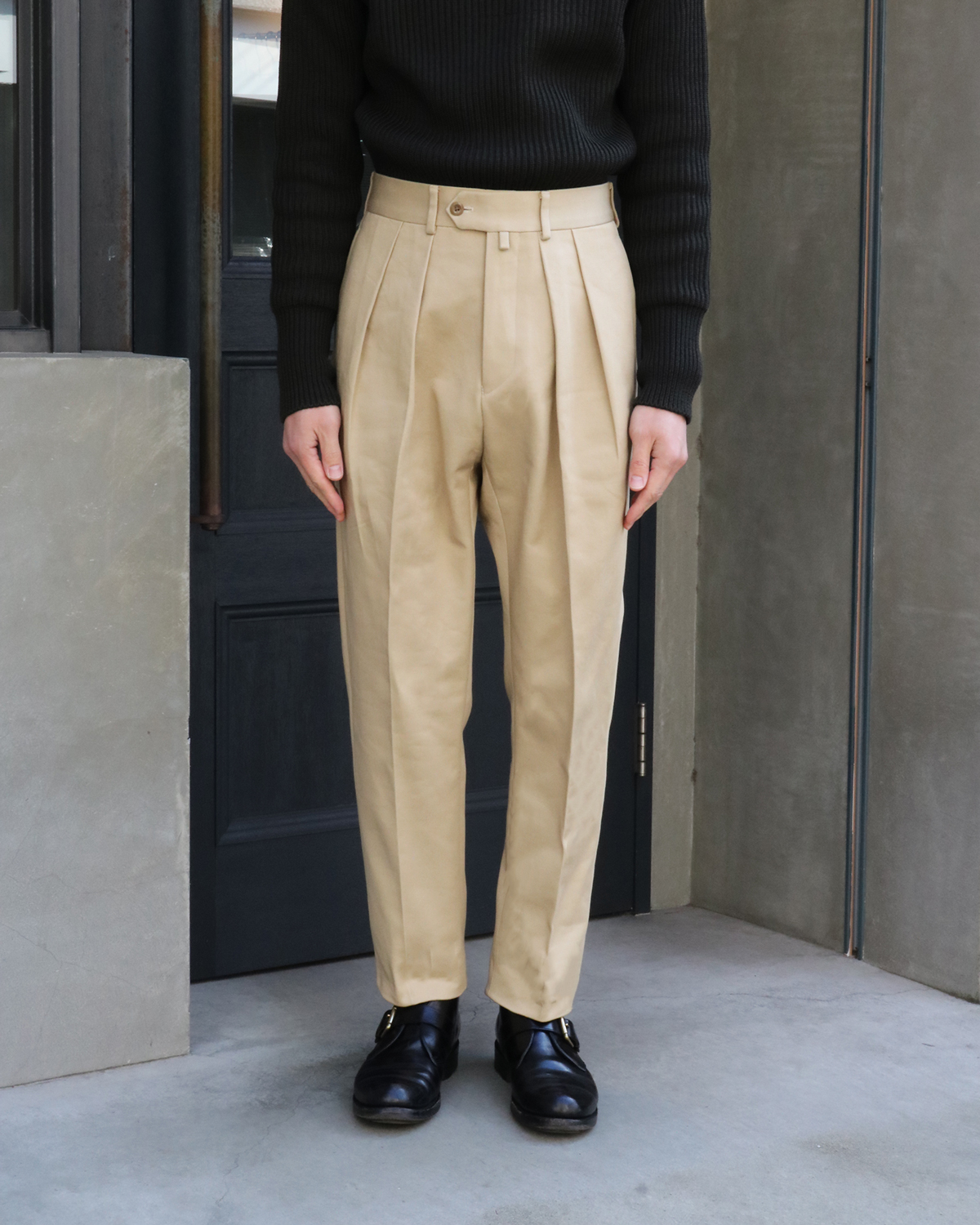 THE KATSURAGI|TAPERED – BEIGE|NEAT