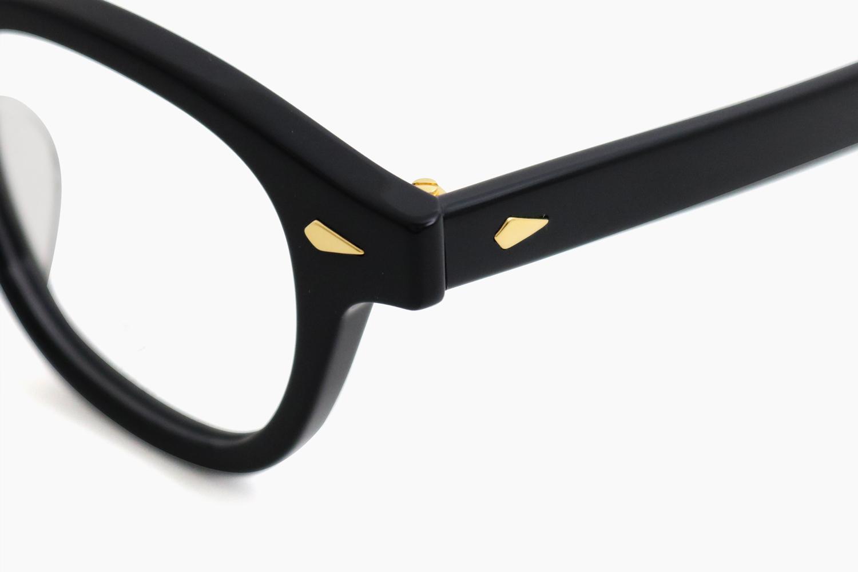 AR 46 - Black <Gold Caulking>|JULIUS TART OPTICAL