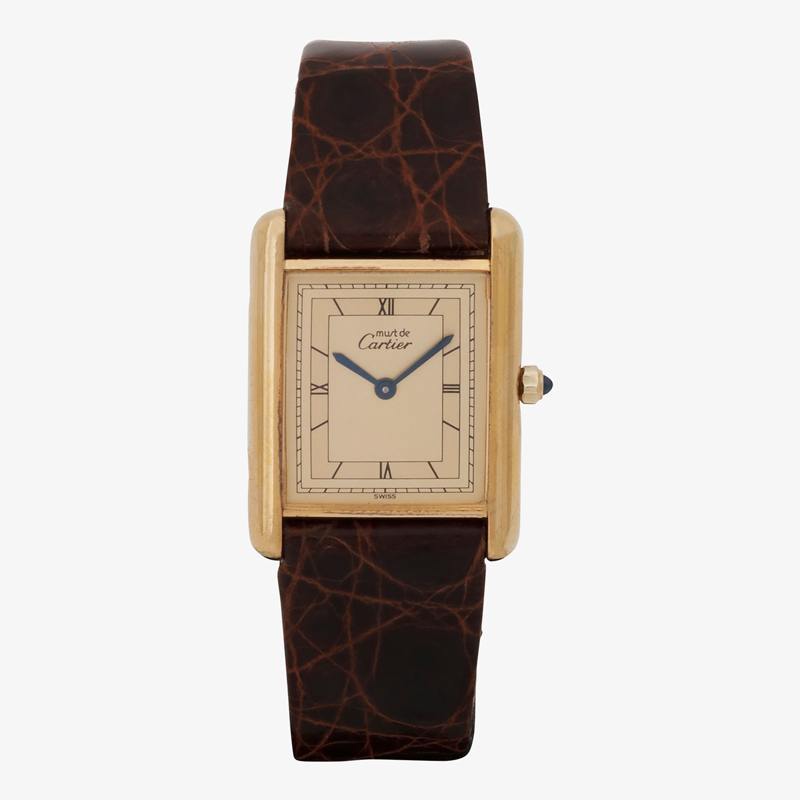 Cartier|must de Cartier TANK LM|Four Point Roman Dial|Ivory – 90's|VINTAGE Cartier
